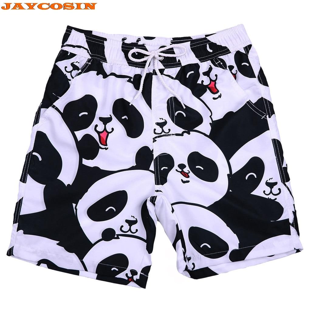 Unicorn Panda Mens Board Shorts Swim Mesh Lining and Side Pocket