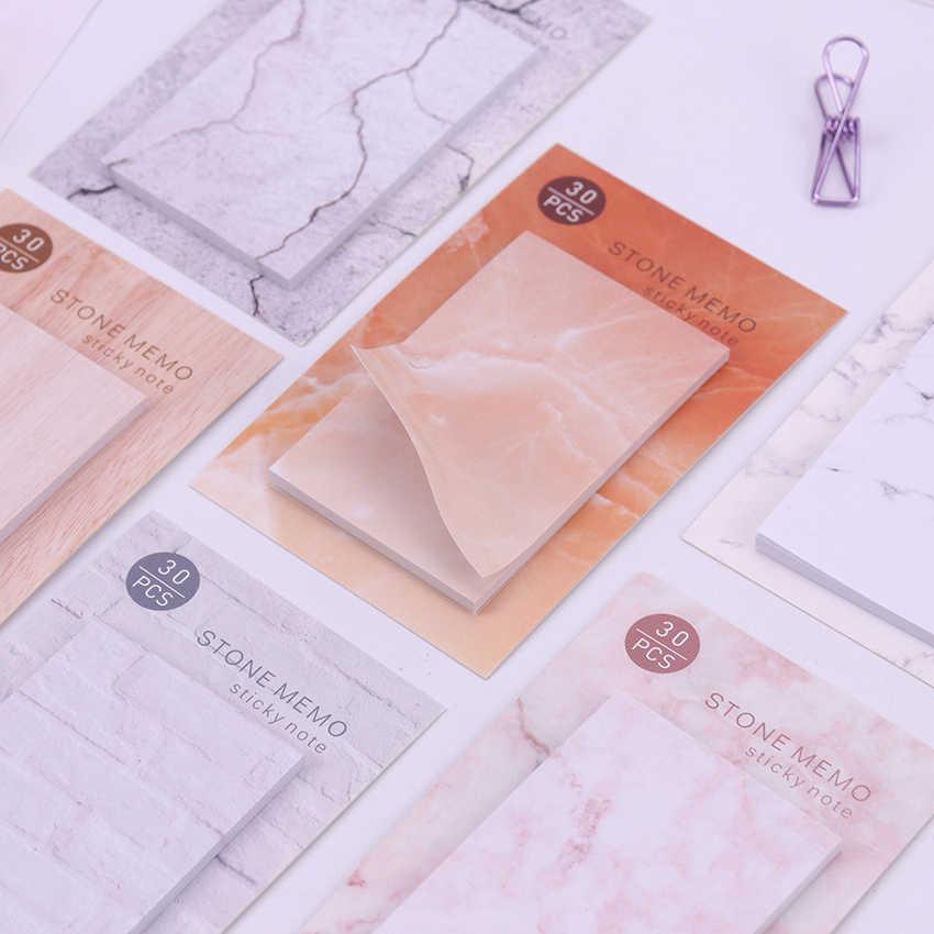 1 قطعة القرطاسية الإبداعية ذاتية اللصق مذكرة الوسادة Kawaii حجر مثبت ملاحظات المرجعية مدرسة مكتب التموين