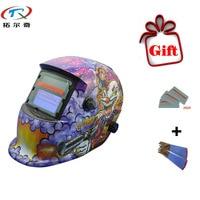 Free Gift Automatic Welder Mask Monster Solder Mask Welding Helmet Welding Machine Tools Darkening Helmet TRQ-HD03-2200de-G