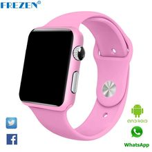 FREZEN G11 Smart Watch Bluetooth Pink Fitness Wristwatch For Women Gift reloj con Sim Card Android Inteligente Smartwatch