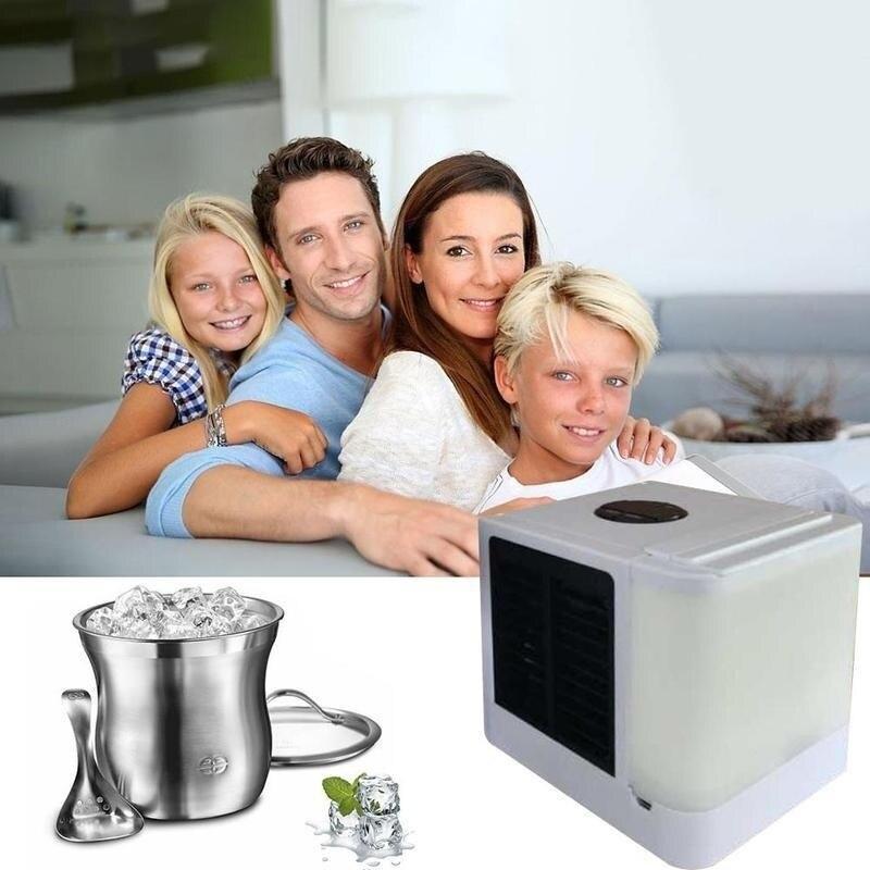 Refroidisseur d'air ventilateur Air espace personnel refroidisseur Portable Mini climatiseur dispositif cool apaisant vent pour maison chambre bureau bureau