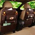 Кожа высокого Качества Автомобиля Back Seat Сумка Для Хранения Автомобилей Стайлинг Творческий Ящик Для Хранения Организатор Карман Клетке для iPhone Смартфон Питания
