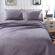 Quality Cotton Bedspread Quilt Set 3pcs Coverlet Quilted bedding Solid Embroidered Quilts Bed Covers King Queen Size Blanket цена 2017