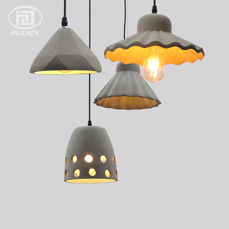 Loft Vintage Industrial Cement Resin Edison Droplight Living Room Cafe Bar Dining Room Store Restaurant Concrete Pendant Lamp vintage loft industrial edison ceiling lamp glass pendant droplight bar cafe stroe hall restaurant lighting