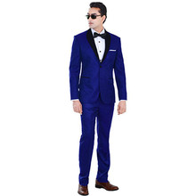 wedding tuxedo royal blue dress for men dress slim fit custom made suits high quality fashion 2017