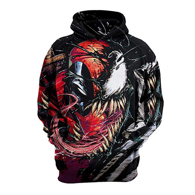 44f152bf 2018 Venom Hoodie Venom: Deadly Guardian Cosplay Costume 3D Printed Edward  Brock Sweatshirt Jackets Tops Coat