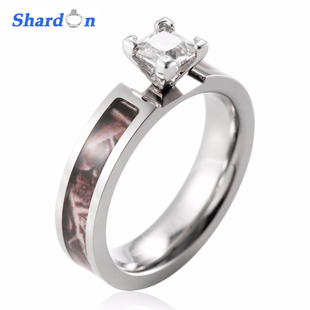 SHARDON Wedding band Engagement ring romantic rings Titanium ring for Women with CZ stone inlay size from 5 11