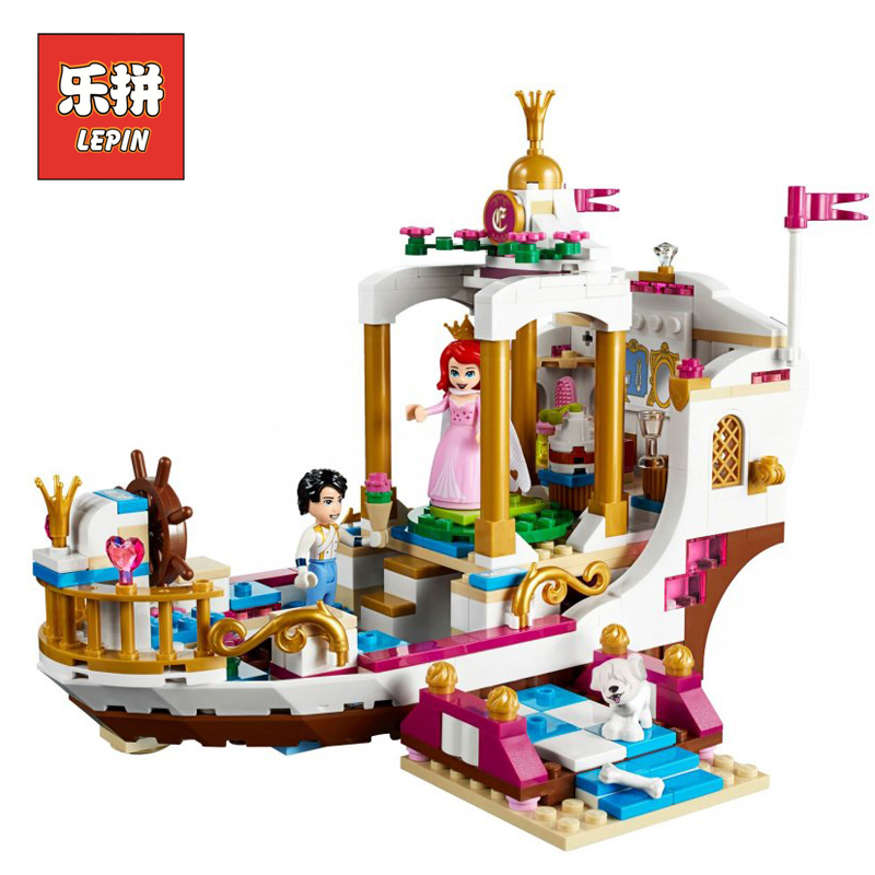 Lepin Friends 25013 New Blocks the Royal Celebration Boat Set 41153 Building Blocks Bricks Educational Toys Children Girl Gifts girl on the boat