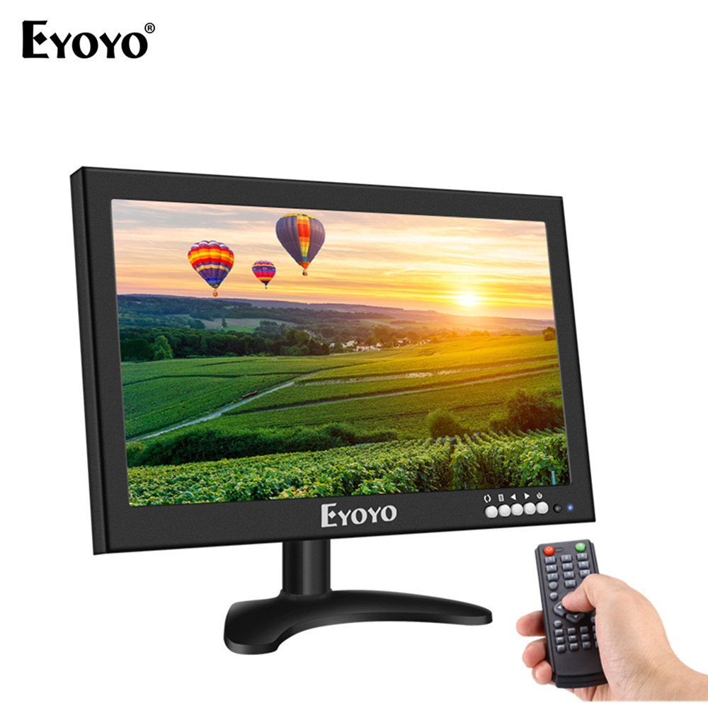 Eyoyo EM12X 12 inch LCD Color 1366x768 Monitor HDMl BNC AV VGA USB For CCTV DVR FPV VCD Security Camera vga 4ch color cctv security camera quad processor remote control