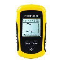 FF1108-1 휴대용 수중 음파 탐지기 물고기 탐지기 에코 사운 더 0.7-100M 변환기 센서 깊이 파인더 # B3 옐로우