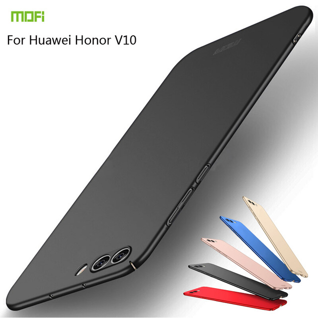 Honor V10 Case Cover Honor View 10 Hard Back Cover Case MOFI For HUAWEI Honor V10 PC Case Protective Back Case Black coque funda image