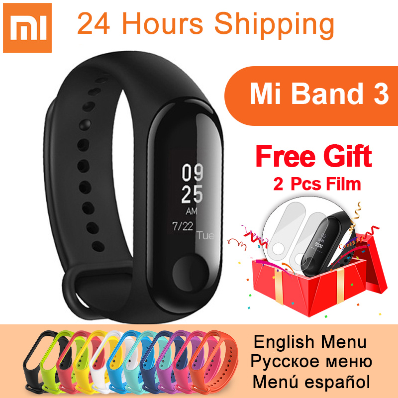 Original xiaomi mi Band 3 Smart Armband mi band 3 fitness Herz Rate Tracker 0,78 zoll OLED Push Nachricht Anruf xiaomi band 3