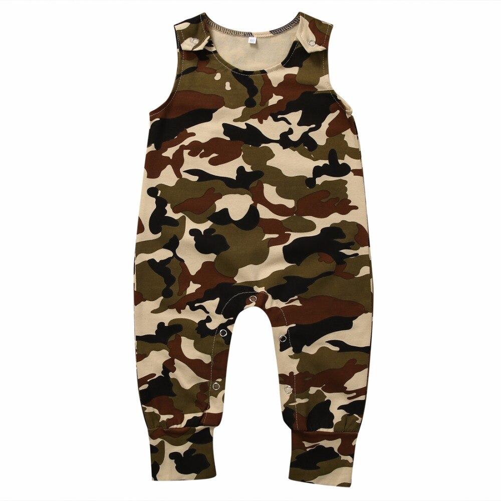 Baby Girls Boys Harem Rompers Girl Boy Summer Camouflage ...