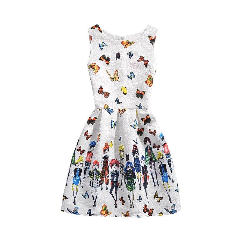 d6ce089a755 2018 Обувь для девочек летнее платье бабочка Цветочный принт подростков  Платья для женщин для Обувь для девочек дизайнерская официальная Вечеринка  платье ...