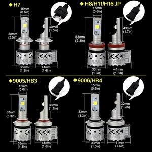 Image 3 - 2x Яркий H7 9005 H8 H11 9012 светодиодный комплект для переоборудования фар, объектив Cree XHP70, чип, длительный срок службы, Белый 72 Вт 6500 к 12000 лм