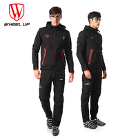 WHEEL UP Windproof Thickened MTB Bike Coats Bicycle Clothing Jersey Set Clothes Suit Winter Cycling Jacket Thermal FleecePants