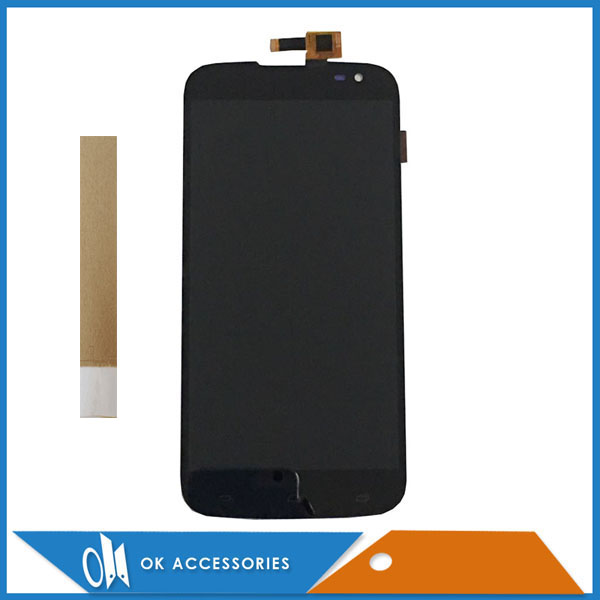 100% High Quality Black Color For Blu Studio 6.0 HD D650 LCD Display+Touch Screen Digitizer Assembly With Tape 1PC/Lot