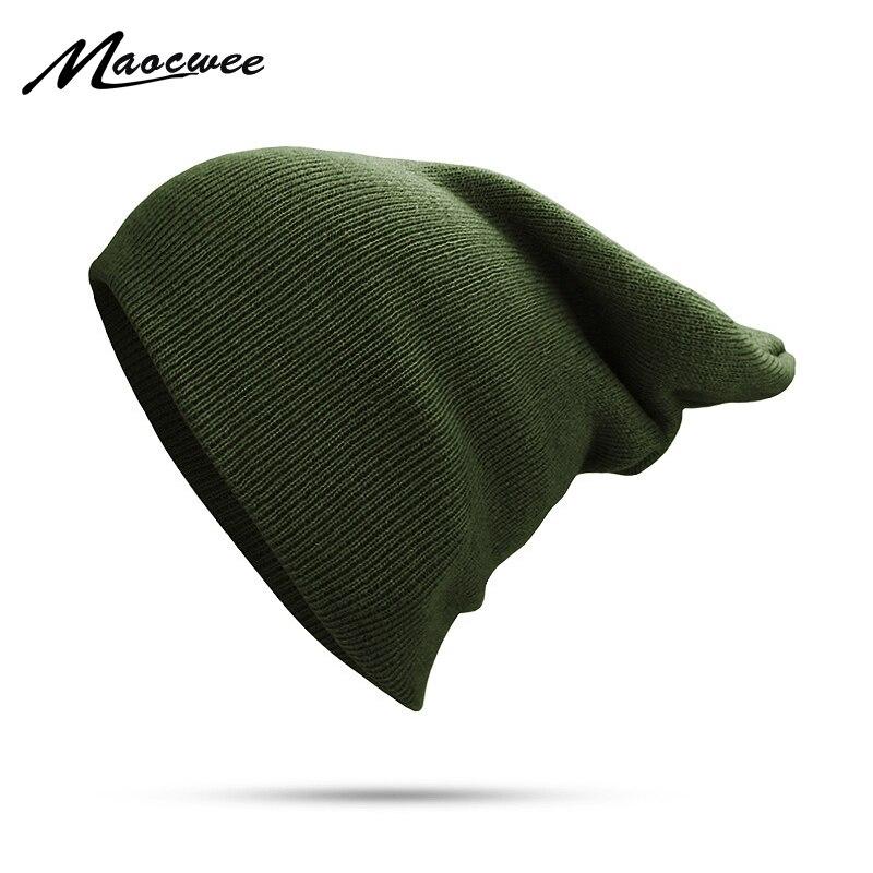 Winter Solid Knitted Beanie For Women Men Spring Autumn Keep Warm Skull Cap Ladies Unisex Dad Hat Unisex Polyester Bone Beanies