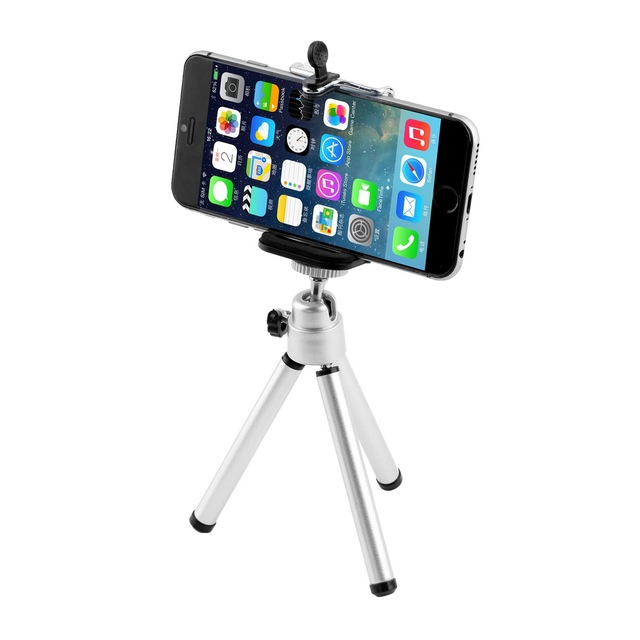 1set Universal Mini Stand Tripod Mount+Holder for iPhone 6 6Plus 5S 5C 5 for SamSung Hot Worldwide Promotion