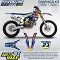 CustomTeam Graphics & Backgrounds Decals 3M RedB Stickers Kit For  2016 2017 Husqvarna FE TE FC TC 250 350 450 500 530