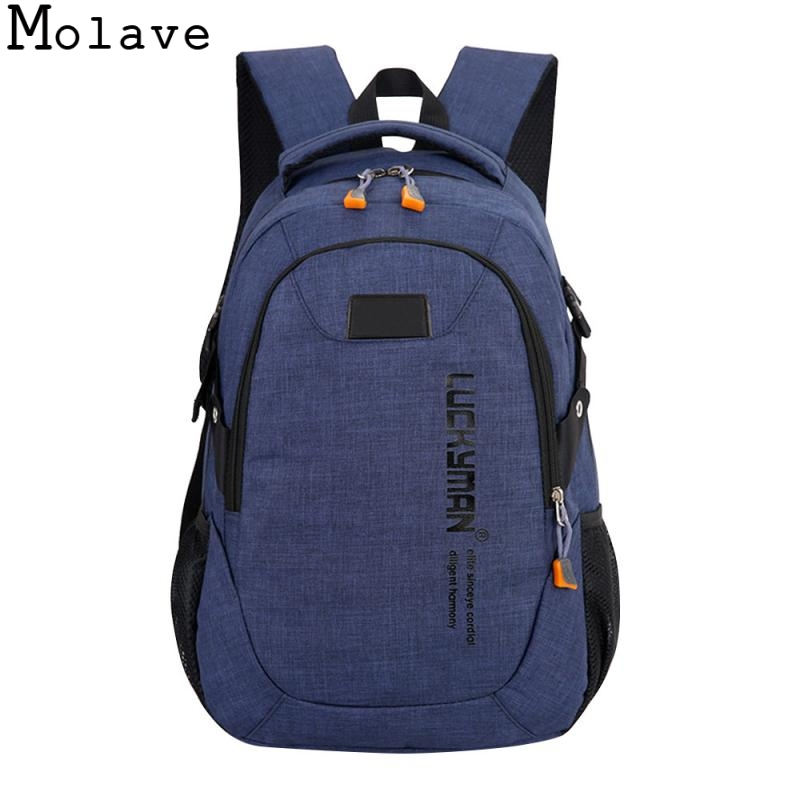 MOLAVE Backpack canvas Travel bag Backpacks fashion men and women Designer student bag laptop bags High capacity backpack DEC21 backpack canvas travel bag backpacks fashion men and women designer student bag laptop bags high capacity backpack 2017 new