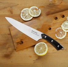 TUO Cutlery Hacker Series 8 Inch Chef Knife Kitchen 440 Japanese Stainless Steel Cooking Blade Sharp Frozen Meat Cutter