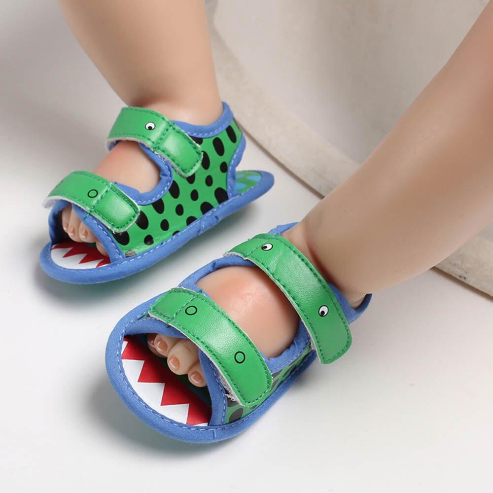 Summer Newborn Baby Crocodile Infant Boy Prewalker Baby Shoes Kinder 0-18M Single Newborn Shoes Boy Printing Girl