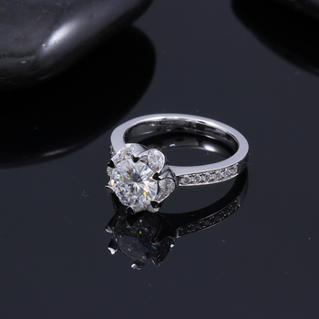 1.4 CTW Carat F Color Lab  Moissanite Diamond Engagement Ring  6