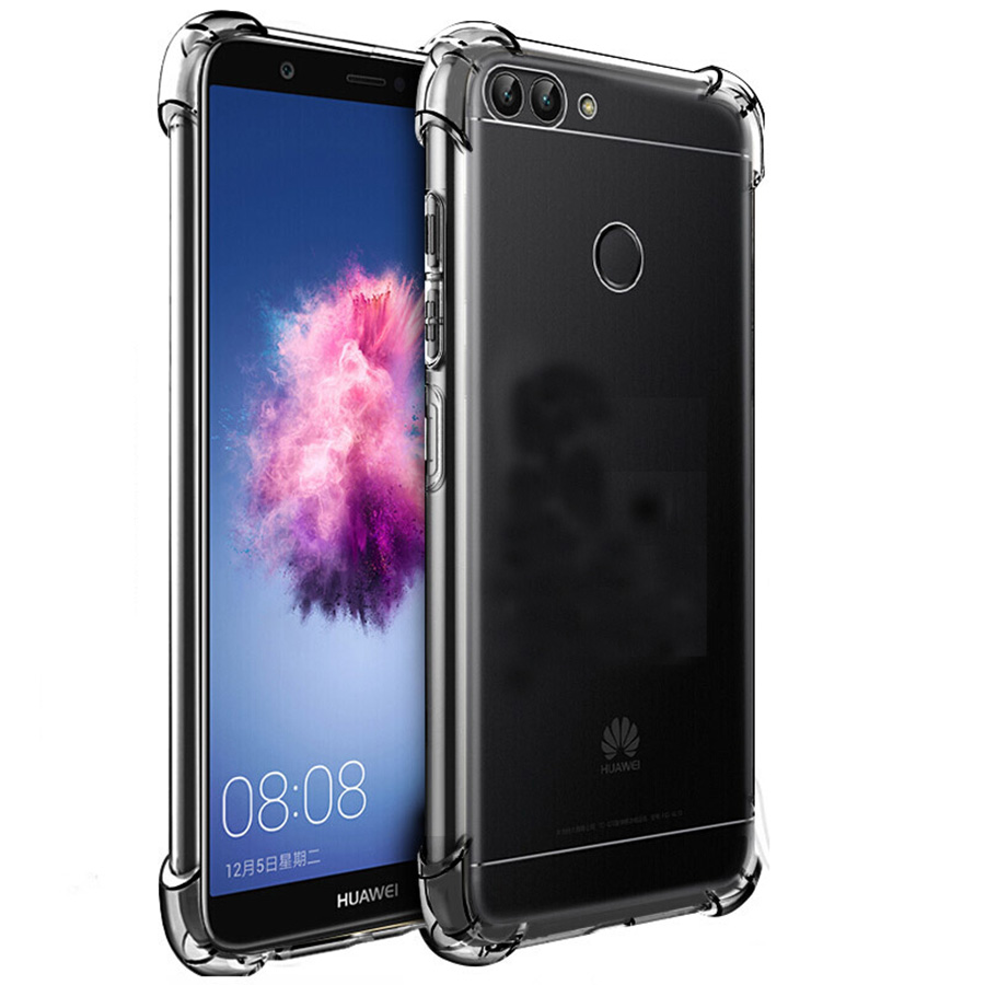 Shockproof Soft TPU Case for Huawei P Smart Cover Silicone for Huawei Enjoy 7S Dual Silicone Transparent Protective Back Cover