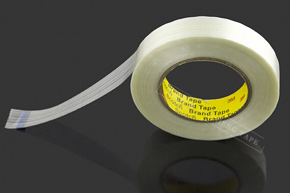 30mm*55M 3M Strong Tensile Strength Adhesive Fiber Tape, for Heavy Box Pack, Wood, Thin Metal Panel, Home Appliance Fasten 8915 1x 35mm 55m 3m strong strength tensile adhesive filament tape for heavy carton pack wood metal home appliance shipping fasten