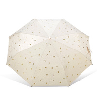 TOP women umbrella anchors full Automatic Anti UV anime parasol three fold sun and rain paragua Women novelty items