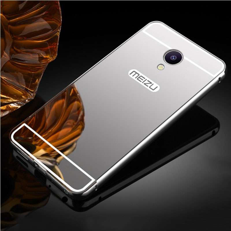 For Fundas Meizu M5 Note Case Luxury Mirror Aluminum Metal Bumper Plastic Back Cover For Meizu M5 Case For Meizu M5 Note Cover