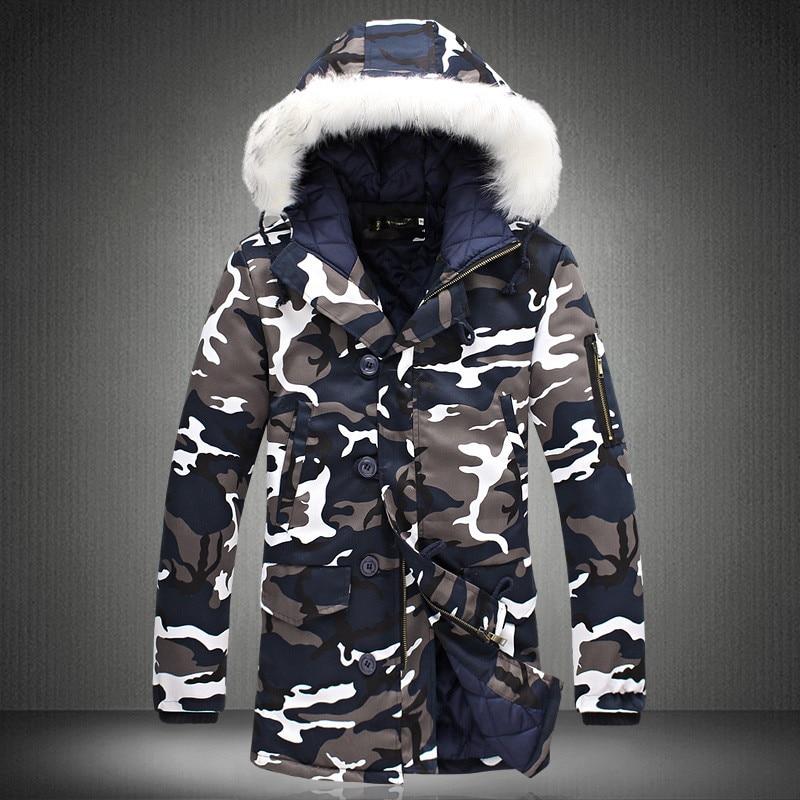 Camouflage winterjacke manner