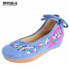31 стилей женские туфли-лодочки обувь Новый Старый Пекин обувь с вышивкой Модные женские вышитые цветочные парусиновые мягкие танцевальные туфли Размер 35–40