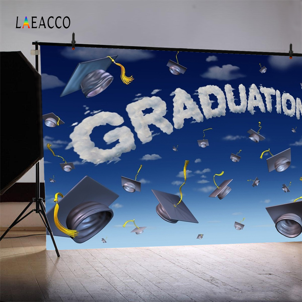Laeacco Cartoon Sky licență de licență Graduation Fotografic - Camera și fotografia - Fotografie 4