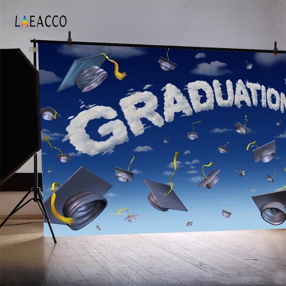 Laeacco Cartoon Sky Bakalářské Cap Graduation Fotografické - Videokamery a fotoaparáty - Fotografie 4