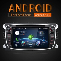 Android 7 1 Black Siliver Two Din 7 Inch Car DVD Player For FORD Mondeo S