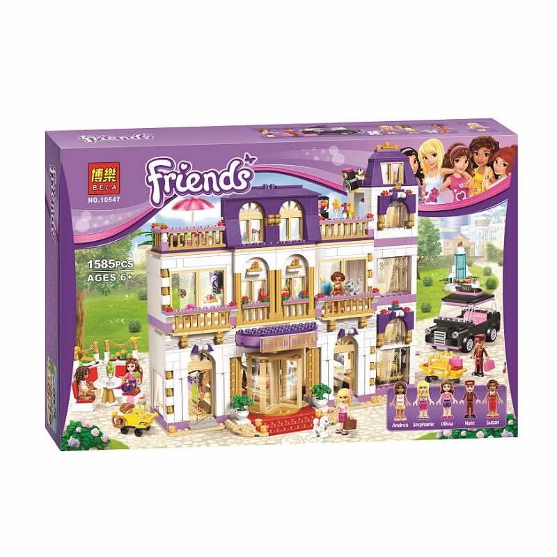 BELA 10547 Girls Friends Heartlake Grand Hotel Building Block Figures Model DIY Bricks Compatible With 41101 lepin 01045 1676pcs girls series heartlake grand hotel set children eucational building blocks bricks toys model gift 41101