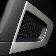 Interni in acciaio inox altoparlante decorativo laminato pannello centrale corno trim per Subaru Forester 2013 2014 2015 2016 2017 2018