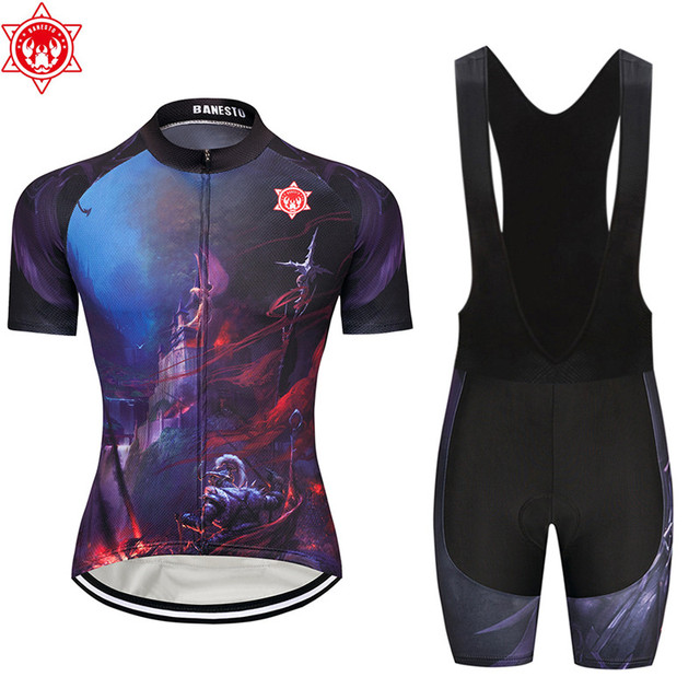 08508747d The king of the war 2018 Banesto Cycling Jersey 9D GEL Pad Bike Shorts MTB  Men s