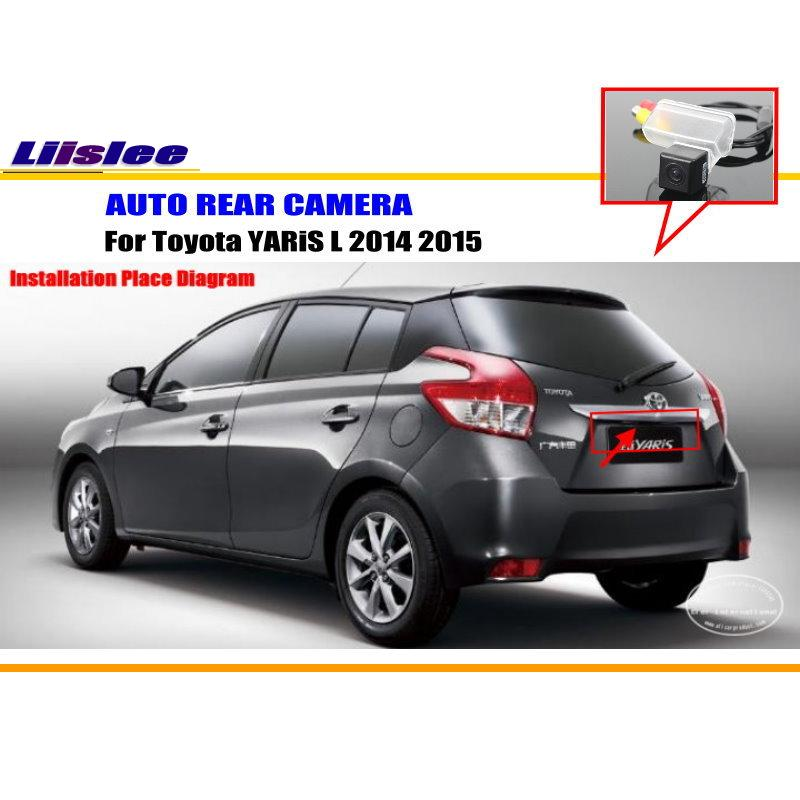 CAR CAMERA For Toyota YARiS L 2014 2015 Rear View Camera Back Up Park Camera HD CCD RCA NTST PAL License Plate Light Camera