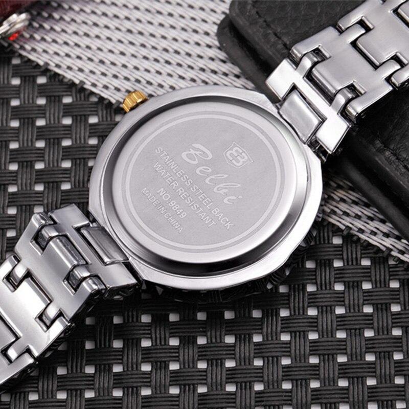 Hoja de oro Diseño de esfera Relojes de pulsera de lujo para mujeres - Relojes para hombres - foto 5