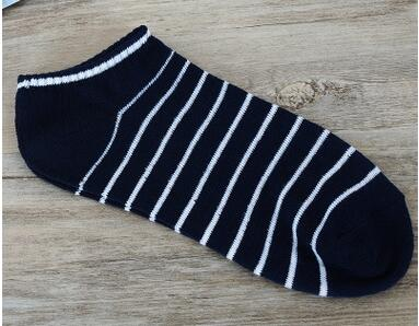 10pairs/lot free shipping korean style man casual stripe short socks cotton striped soft socks free size