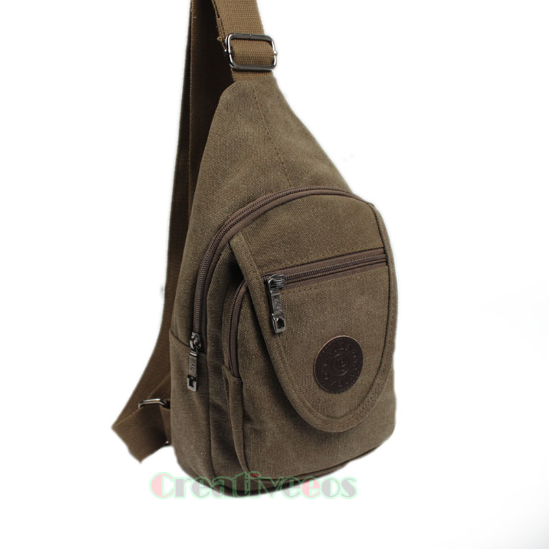 Men's Casual Canvas Travel Motorcycle Rucksack Back pack Cross Body Bags Messenger Shoulder Sling Chest Bag oxford waterproof cross body chest day back pack travel hike messenger water bottle kettle bag single shoulder bags rucksack