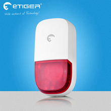 Etiger New 100dB Wireless water proof outdoor Strobe Siren etTiger ES S7B for S4 GSM font