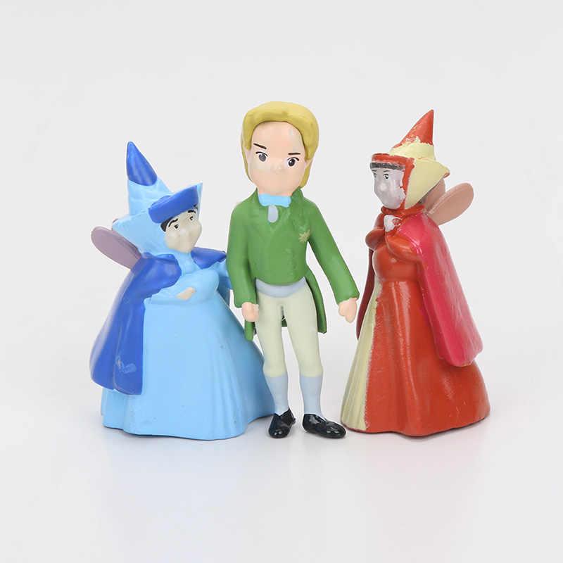 12pcs/lot 3cm - 5cm Princess Action Figures PVC doll the first Princesses figure Toys