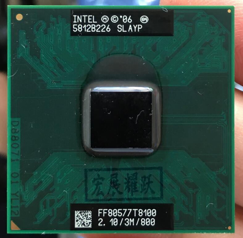 Intel Core 2 Duo T8100  CPU   Laptop Processor PGA 478 Cpu 100% Working Properly