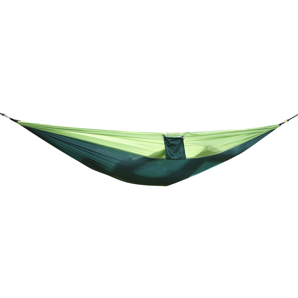 Nylon Parachute Fabric Double Hammock Dark Green & Green Lightweight Outdoor Camping Travel Tent Accessories Ship From US