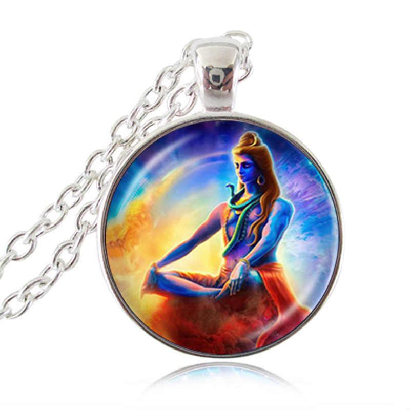 Senhor shiva colar deus hindu buda colar artesanal budista jóias charme religioso pingente hinduísmo colar jóias hz1