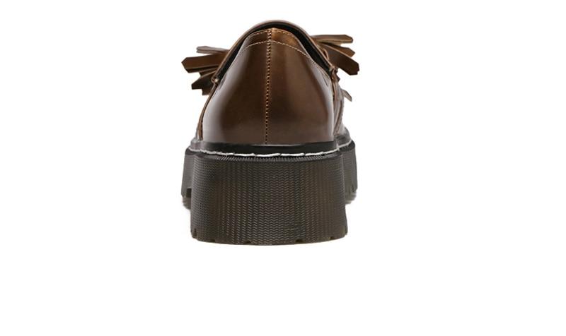 Black forme Richelieu brown Femmes Femme Plate Taille Dames Brun Fringe Appartements Nouvelle Britannique Casual Chaussures Genshuo Richelieus Automne D'été 2018 Noir n1CqOwH8xw